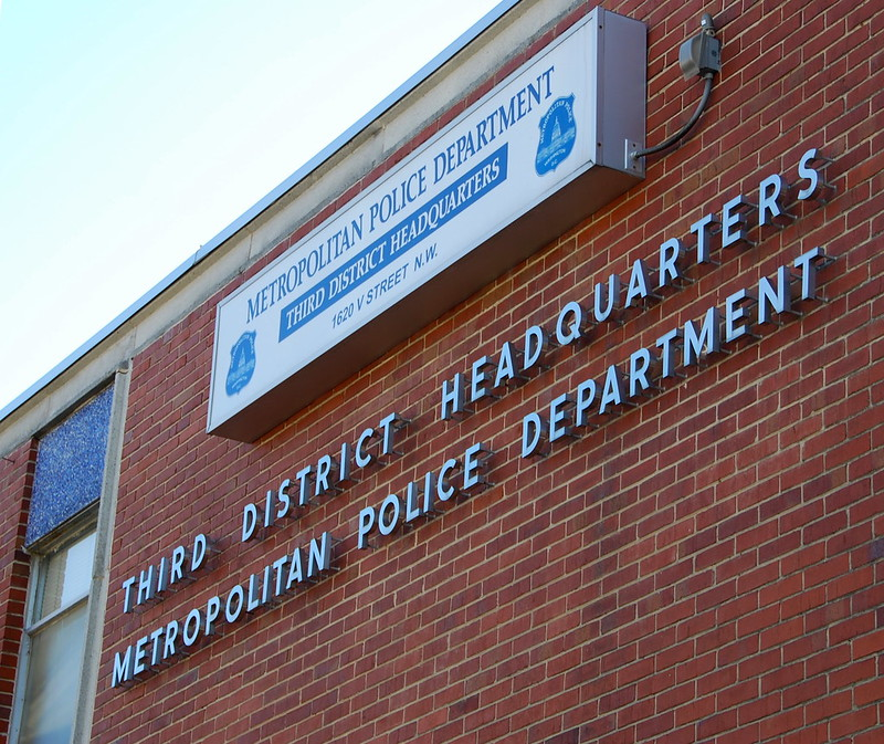 Photo of DC's Metropolitan Police Department Third District HQ