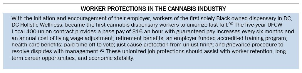 """Text Box: """"Worker Protections in the Cannabis Industry"""""""